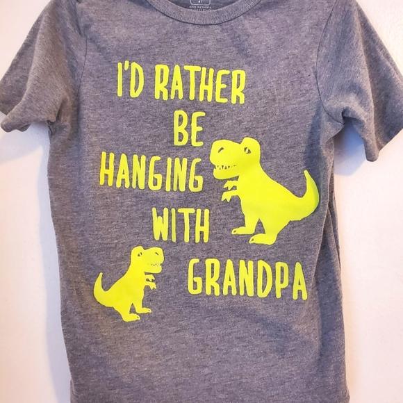 Rather Be Hanging W/ Grandpa 4T Boys Shirt